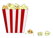 Cartoon popcorn Stock Image