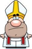 Cartoon Pope Bored Royalty Free Stock Photos