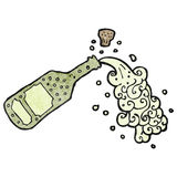 Cartoon popped champagne Stock Photo