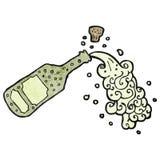 Cartoon popped champagne Stock Photo