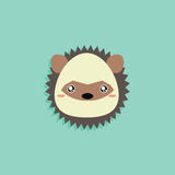 Cartoon Porcupine face Royalty Free Stock Images