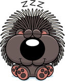 Cartoon Porcupine Napping Royalty Free Stock Photos
