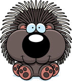 Cartoon Porcupine Sitting Royalty Free Stock Photos