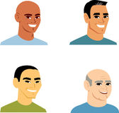Cartoon Portrait Avatar Man Set Stock Images