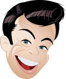 Cartoon portrait of happy man Royalty Free Stock Image