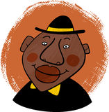 Cartoon portrait of a smiling african american man Royalty Free Stock Photo