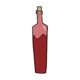 Cartoon posh bottle. Hand drawn cartoon illustration in retro style.  Vector available Royalty Free Stock Photos
