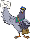 Cartoon post pigeon Stock Photo