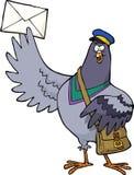 Cartoon post pigeon Stock Photo