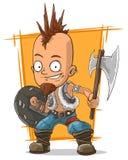 Cartoon postapokalipsis crazy punk. A vector illustration of cartoon postapokalipsis crazy punk Stock Images