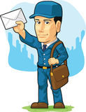 Cartoon of Postman or Mailman Royalty Free Stock Photos