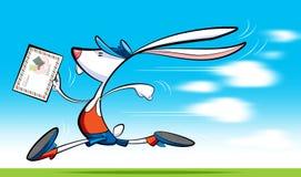 Fast postman rabbit delivering letter Stock Photos