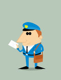 Cartoon postman Royalty Free Stock Photos