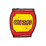 Cartoon potato chips bag Royalty Free Stock Images