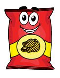 Cartoon potato chips character Royalty Free Stock Photography