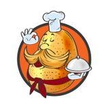 Cartoon potatoes. Funny cartoon potatoes cook for your design Stock Photography