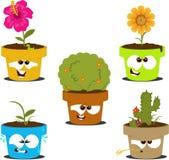 Cartoon Pots Royalty Free Stock Image