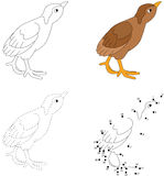 Cartoon poult. Vector illustration. Dot to dot game for kids Royalty Free Stock Image