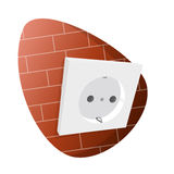 Cartoon power socket Royalty Free Stock Photography