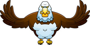 Cartoon Powerful Eagle Stock Photos