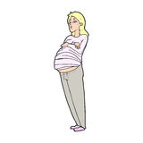 Cartoon pregnant woman Stock Photo
