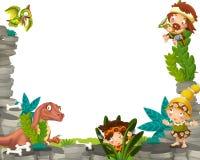 Cartoon prehistoric frame Stock Photo