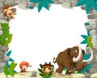 Cartoon prehistoric frame Royalty Free Stock Photo