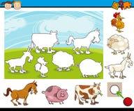 Cartoon preschool task for kids Stock Photos