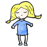 Cartoon pretty blond girl Stock Images