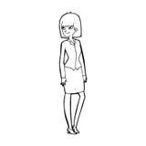 Cartoon pretty businesswoman Stock Image