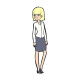 Cartoon pretty businesswoman Royalty Free Stock Photography