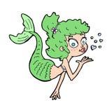 Cartoon pretty mermaid Royalty Free Stock Photos
