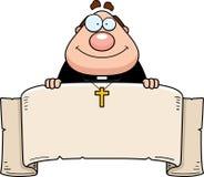 Cartoon Priest Banner Royalty Free Stock Photos
