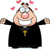 Cartoon Priest Hug. A cartoon illustration of a priest ready to give a hug Royalty Free Stock Photo