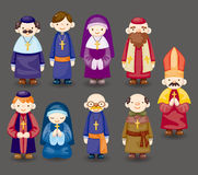 Cartoon priest icon Royalty Free Stock Photo