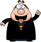 Cartoon Priest Idea Royalty Free Stock Images