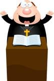 Cartoon Priest Sermon Royalty Free Stock Image