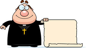 Cartoon Priest Sign Royalty Free Stock Images
