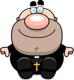 Cartoon Priest Sitting Stock Photo