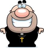 Cartoon Priest Smiling Royalty Free Stock Photo
