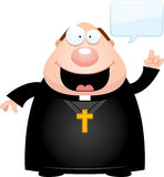 Cartoon Priest Talking Stock Photo