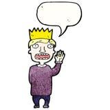 Cartoon prince swearing royal Stock Images