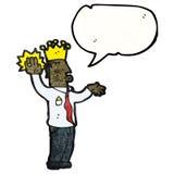 Cartoon prince taking oath Royalty Free Stock Image