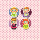 Cartoon princess card Royalty Free Stock Photos