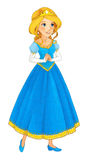 Cartoon princess character - smiling and beautiful woman / illustration for children Royalty Free Stock Photos