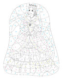 Cartoon princess - coloring page Stock Images