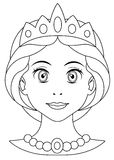 Cartoon princess coloring page Royalty Free Stock Photos