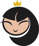 Cartoon princess icon. Icon illustration of cartoon princess Stock Photos