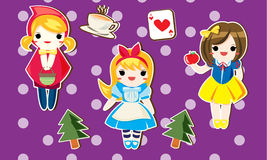 Cartoon princess for kid. Joy the wonderland with cute character from cartoon or anime that you like Royalty Free Stock Photo