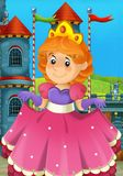 The cartoon princess - medieval times Royalty Free Stock Photography